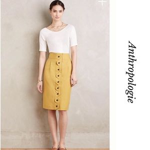 ANTHROPOLOGIE MAEVE ADA BUTTON FRONT SKIRT